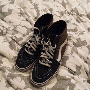 Vans Pro hi tops, size 12 brown and black